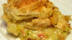 White Chicken Chili &amp; Crunchy Dumplings Casserole Recipe