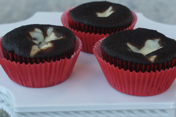 Aunt K K's Black-Bottom Cupcakes