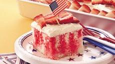 Red, White and Blue Poke Cake Recipe