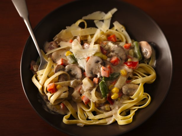 Mushroom Vegetable Ragu with Fettuccine