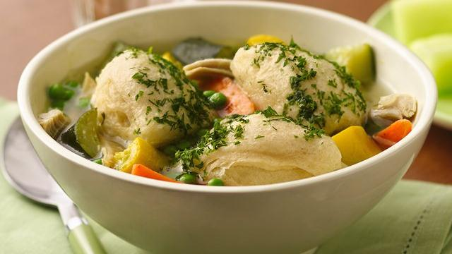Image of Summer Chicken Soup With Biscuit Dumplings, Pillsbury