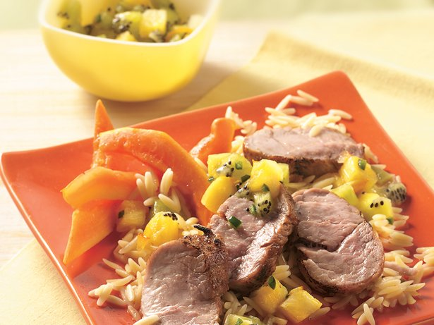 Grilled Pork Tenderloin with Pineapple Salsa