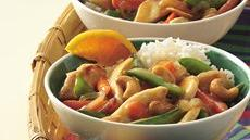 Honey-Glazed Cashew-Chicken Stir-Fry Recipe
