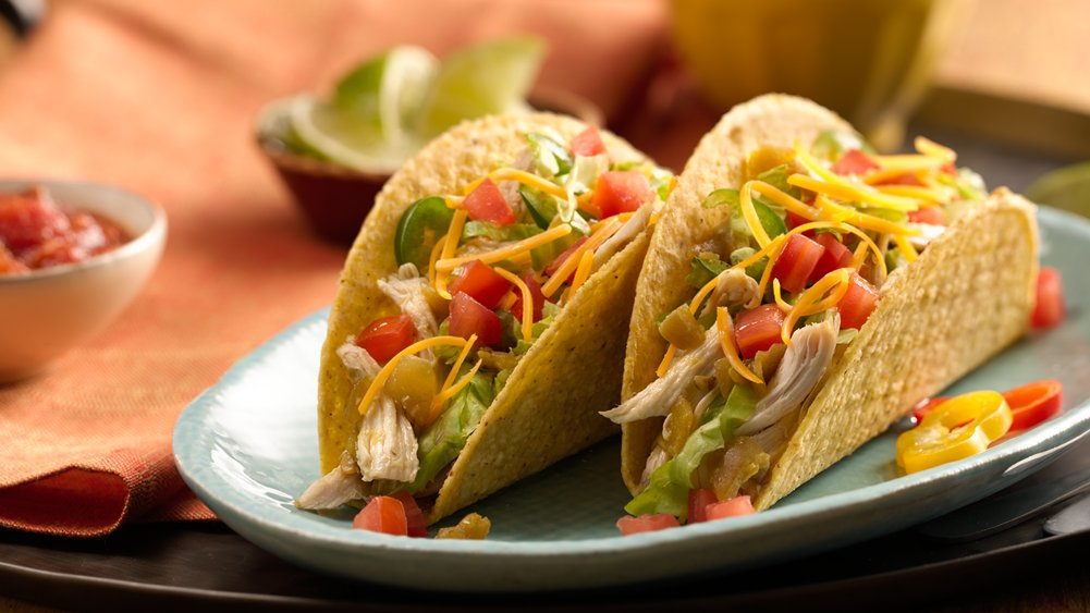 Ten Minute Chile Chicken Tacos