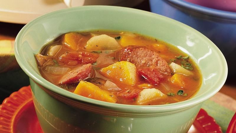 Slow-Cooker Winter Root Veggie and Sausage Casserole