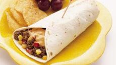 Cheesy Corn and Burger Wraps Recipe