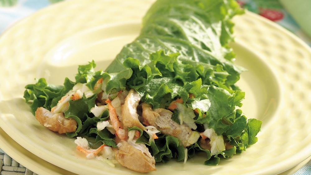 Grilled Ginger Chicken Lettuce Wraps