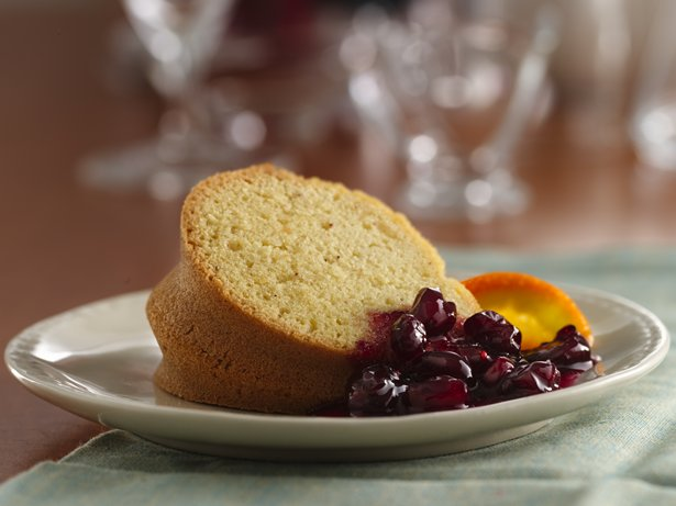 Gluten Free Holiday Cake with Cranberry Sauce