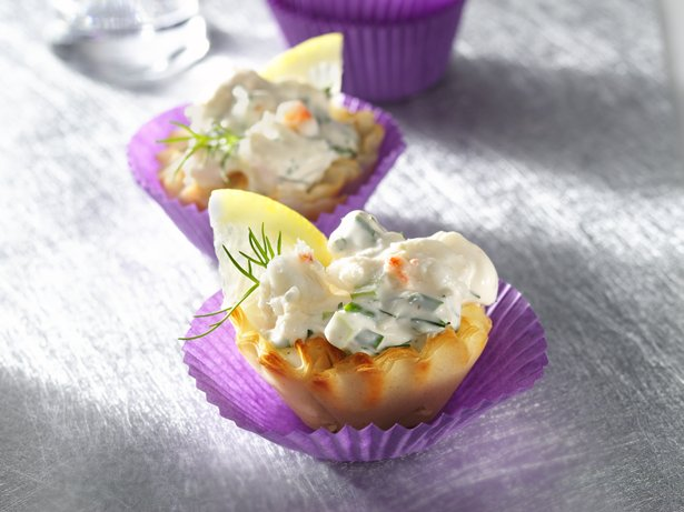 Festive Fillo Crab Cups