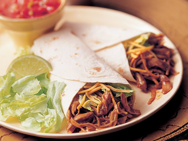 Slow Cooker Tex-Mex Turkey Wraps (Crowd Size)