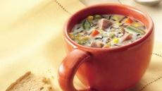 Slow Cooker Ham and Wild Rice Soup Recipe