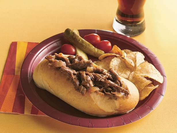 Slow Cooker Tangy Barbecued Beef Sandwiches