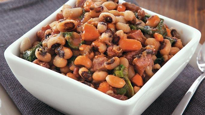 Slow-Cooker Black Eyed Peas and Greens recipe - from Tablespoon!