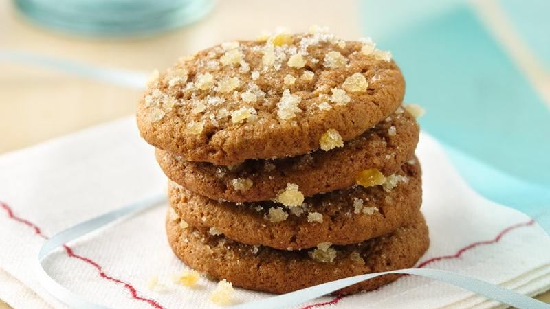 Chewy Triple Ginger Cookies