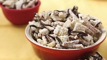 White Chocolate Macadamia Nut Chex Clusters