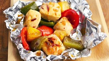Grilled Pineapple-Chicken Kabob Packets