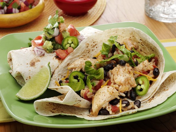 Speedy Chicken & Black Bean Burritos