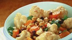 Curried Cauliflower, Carrots and Beans