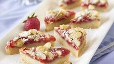 Strawberry-Almond Paste Shortbread Bars Recipe