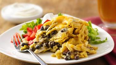 Slow-Cooker Chicken Enchilada Casserole