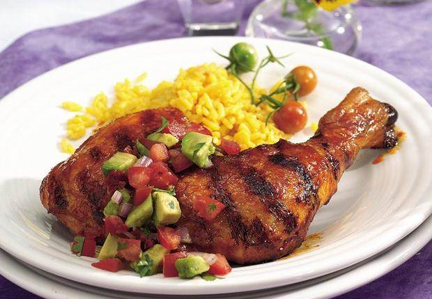 Grilled Chicken with Chipotle Avocado Salsa
