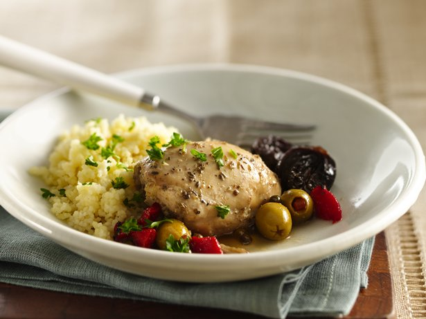 Slow Cooker Mediterranean Chicken Marbella