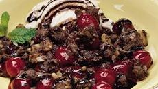 Chocolate-Cherry Crisp Recipe