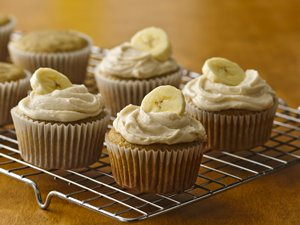 Gluten-Free Banana Cupcakes with Browned Butter Frosting