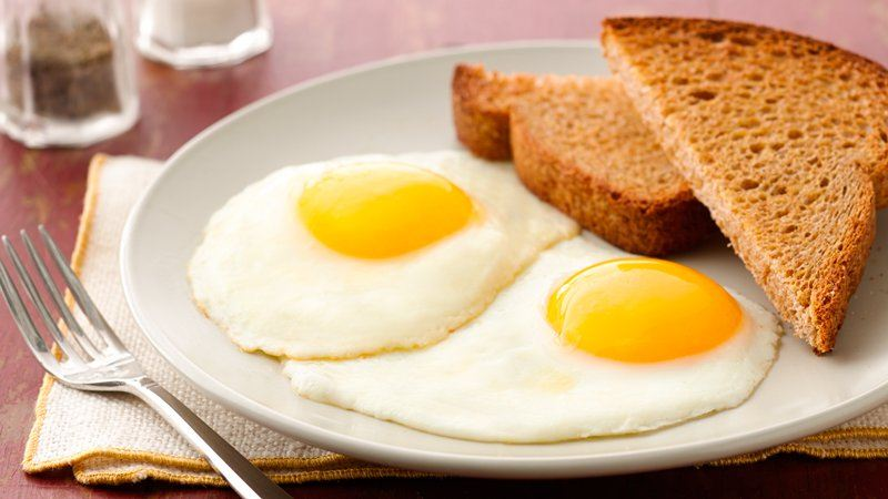Sunny side up egg vs. Over easy egg