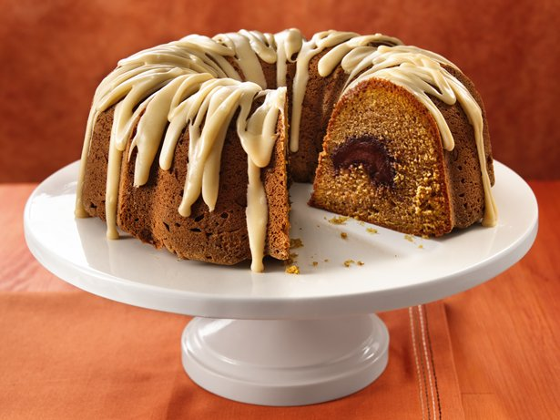 Pumpkin Truffle Pound Cake with Browned Butter Icing recipe from Betty ...