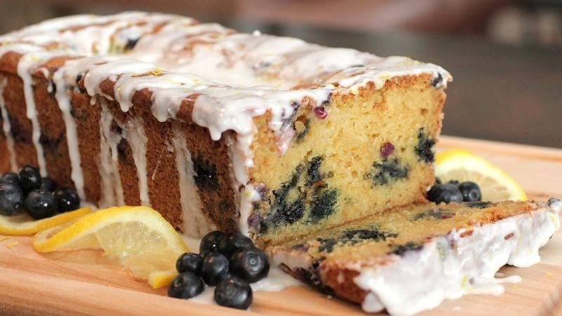 Glazed Lemon-Blueberry Loaf