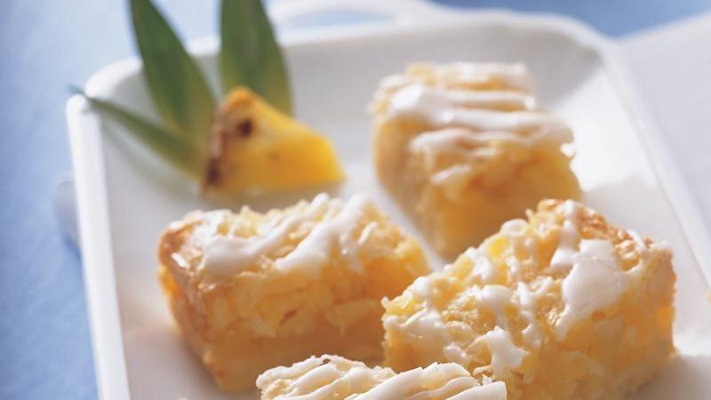 Macadamia Nut Piña Colada Bars
