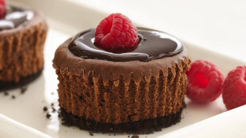 Mini Bittersweet Chocolate Cheesecakes Recipes — Dishmaps