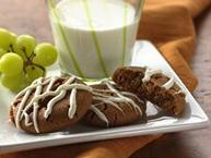 Molasses Cookies with White Chocolate Glaze