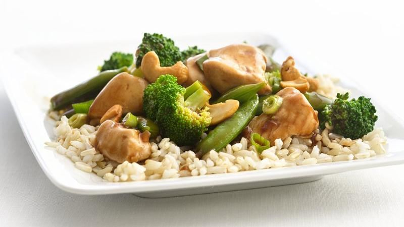 Healthified Cashew Chicken and Broccoli