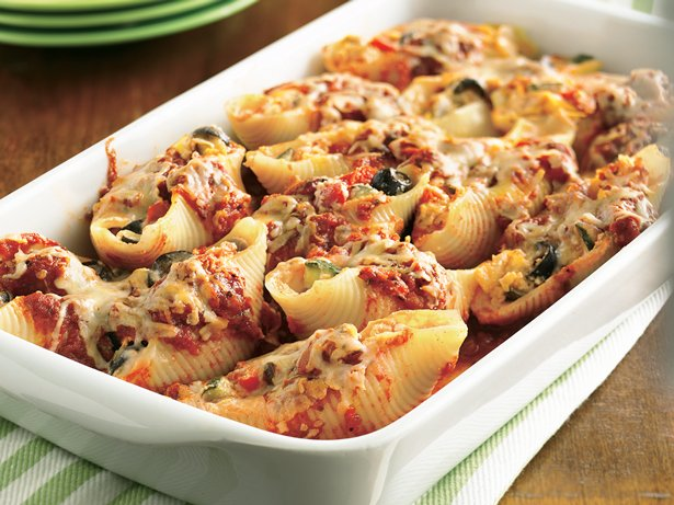 Cheese- and Vegetable-Stuffed Shells