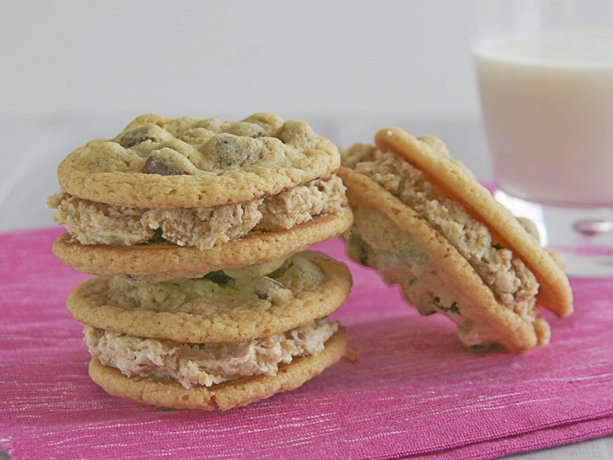 Oatmeal Cookie Cream Chocolate Chip Cookie Sandwiches