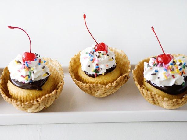 Fudge Sundae caliente Cupcakes