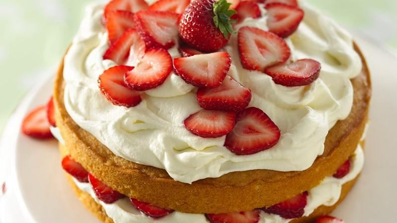 Strawberry and White Chocolate Buttercream Cake recipe from Betty ...