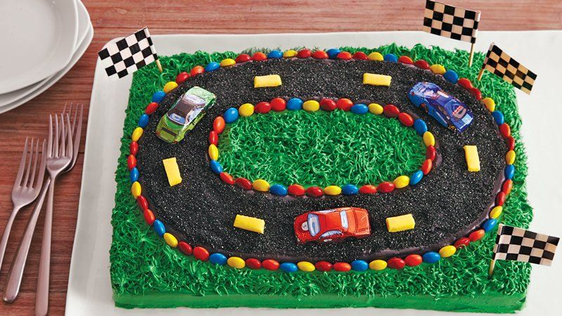 Racetrack Cake Designs
