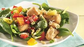 Tropical Salsa-Topped Chicken Salad Recipe