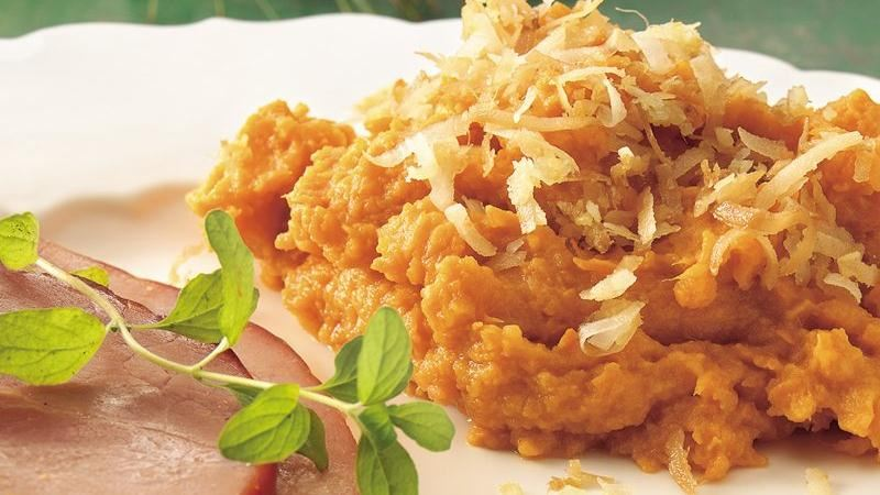 Sweet Potatoes with Coconut-Ginger Topping