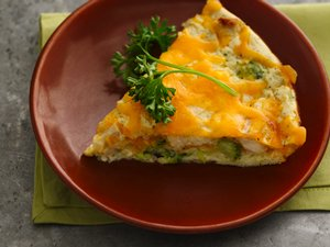 Healthified Impossibly Easy Chicken and Broccoli Pie