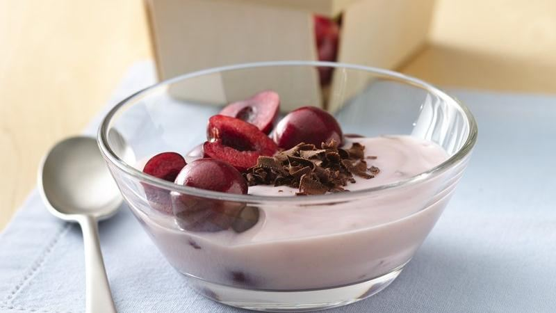 Cherries with Cherry Vanilla Yogurt