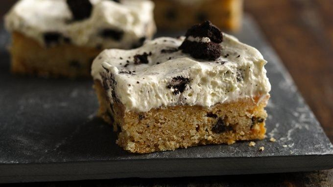 Cookies and cream bars recipe from tablespoon for Award winning dutch oven dessert recipes