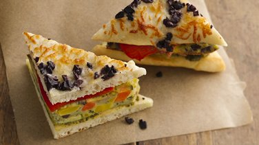 Veggie Frittata Breakfast Sandwiches