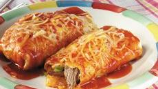 Baked Steak Burritos Recipe