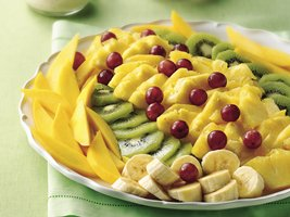 Tropical Fruit Salad with Yogurt-Apricot Dressing