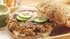 Teriyaki Veggie-Pork Burgers Recipe