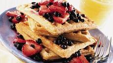 Fruit-Topped Whole Grain Waffles Recipe